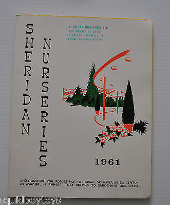lot of 4 SHERIDAN NURSERIES Limited GARDENING CATALOG 1958-1961