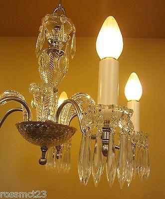 Vintage Lighting 1940s crystal chandelier 5