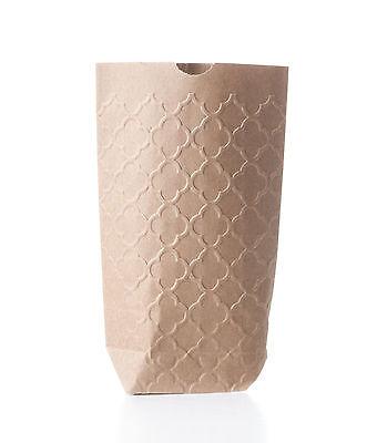 10 Geschenktüten mit PALAST Prägung Papiertüten Kraftpapier Tüten 11x17,5 cm 4