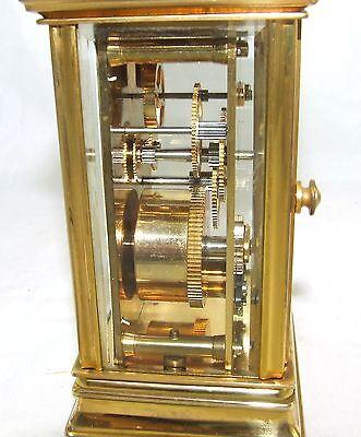 ENGLISH St James LONDON Brass Carriage Mantel Clock 11 Jewels : Working (59) 11