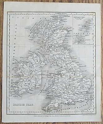 12 19th Century Great Britain England Wales Various Genuine Antique Maps 9
