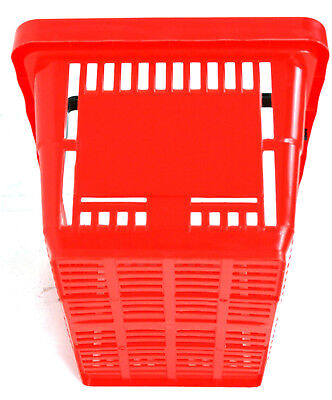 2 Handle Red Plastic Shopping Basket Retail Supermarket Use Hand Carry 5