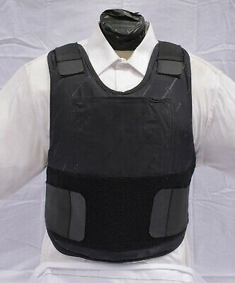 Medium IIIA Concealable Body Armor Carrier BulletProof Vest with Inserts 2