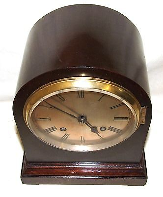 Antique Mahogany Bracket Mantel Clock : Strikes on Hour & Half Past 3