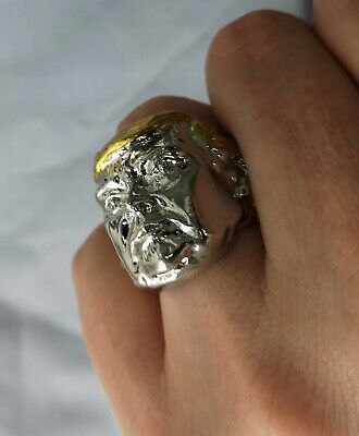 Silver Donald Trump Ring Gold US President Make America Great Again Great Leader 9