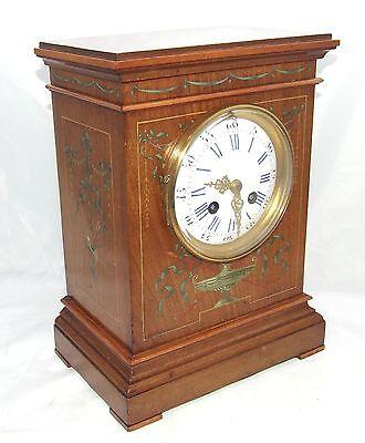 Antique French Hepplewhite Style Mahogany Mantel Bracket Clock CLEANED SERVICED 2