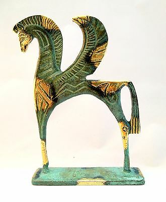 Ancient Greek Bronze Museum Statue Replica of Pegasus Flying Horse Collectable 5