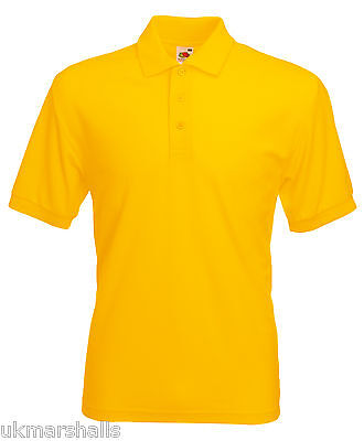 Bulk Buyer Fruit Of The Loom Polo T Shirt 14 Colours All Sizes Bn 7