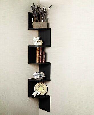 2/3/ 5 Tier Floating Wall Shelves Corner Shelf Storage Display Bookcase 3