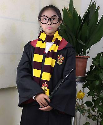 Harry Potter Manteau écharpe Krawatt Gryffindor Slytherin Ravenclaw Cape Costume 9