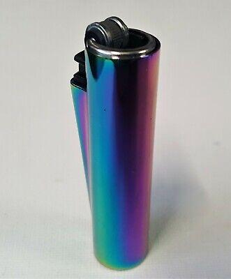 CLIPPER ENGRAVED RAINBOW LIGHTER Steel Metal Personalised Birthday Gift  N 3