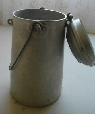 Antigua Lechera De 2 Litros Aluminio ( Con Pasador Y Asa) 26 X 13 Ctms 2