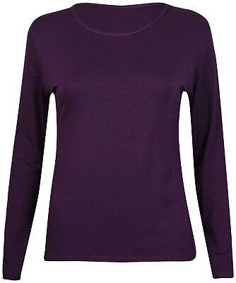 Women Ladies Underwear Winter Warm Fleece Fur Lined Thermal Long Sleeve Top New 8