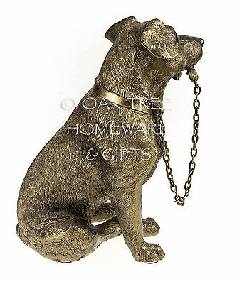 Jack Russell Terrier Statue Bronze Dog Ornament Dog Memorial Figurine Boxed 5