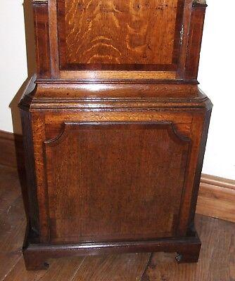 ~ Antique Oak & Mahogany Grandfather Longcase Clock BENJAMIN PEERS CHESTER 10