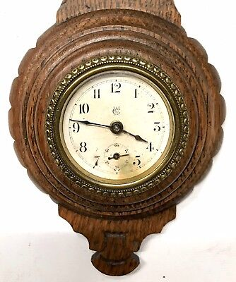 Lovely Waterbury Clock Co Barometer Shaped Clock American 4
