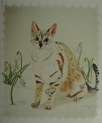 """C226    Original Acrylic Painting By Ljh  """"Meo & Tia""""  Siamese  Cat 8"""