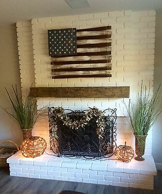 3 Of 8 Unfinished Hand Hewn Rustic Barn Beam Fireplace Mantel 6 Foot With Corbels