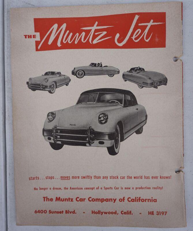 1950s California SCCA Palm Springs Original Race Program Sports Car Club 2
