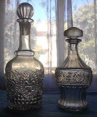 Dos Excelentes Licoreras De Cristal ( Vintage)