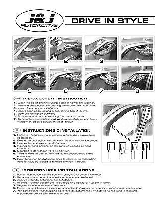 FIAT DUCATO 2 Portes 2014-prés  Deflecteurs d'air Déflecteurs de vent 2pcs 9