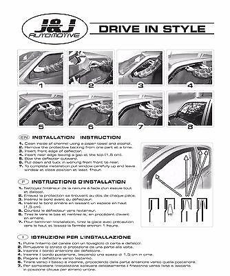 VW TOURAN  2003 - 2015  Deflecteurs d'air Déflecteurs de vent 4pcs 6