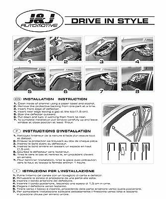 SET 4 DEFLETTORI ARIA  ANTITURBO per VW GOLF V  5 PORTE 2004 - 2008 6
