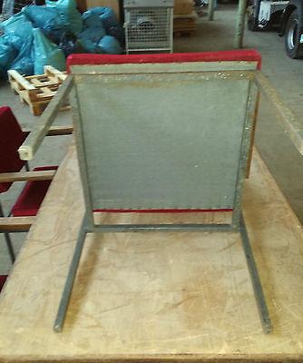 70er Jahre Restaurant Esstisch Sessel Eisengestell Stapelbar