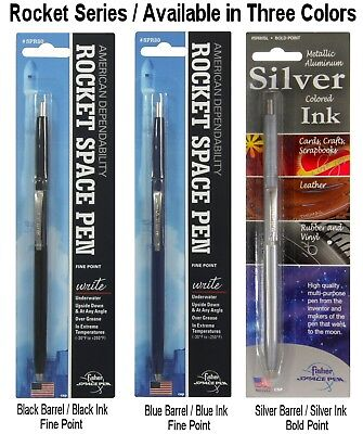 Fisher Space Pen #SPR84 / Black Rocket Series Pen With Black Ink 4