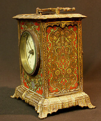 C1 1900 MUCHA superbe pendule pendulette Art nouveau bronze 17c1.7kg clock déco 3
