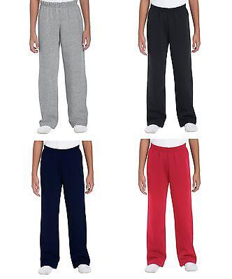 Boys Girls Childrens School Kids Fleece Jogging Bottoms Joggers Jog Pants White 2