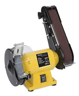 Free 21 Belts 150Mm Bench Grinder Linisher Sanding Grinding Wheel Belt Sander 7