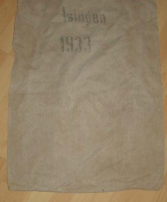 Leinensack korn leinen sack alt Getreidesack dat.1933 antik top nostalgie deko 2