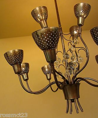 Vintage Lighting 1950s Mid Century high quality chandelier 3