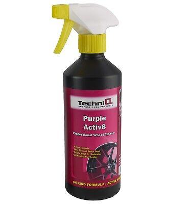 Purple Activ8 Alloy Wheel Cleaner 500ml Devils Blood Trolls Breath PLUS BRUSH 2