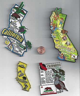 California  Ca    State Outline Map  Magnet   The Golden State   , New