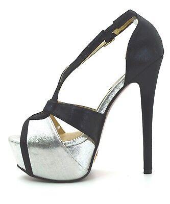5d7b0a6c49ec13 ... scarpe donna DECOLTè decollete tacco alto 15 colore metallizzo Mary  Jane plateau 2