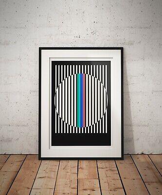 ABSTRACT MID CENTURY RETRO POP ART DECO INTERIOR BLACK WHITE PRINT A1 A2 A3