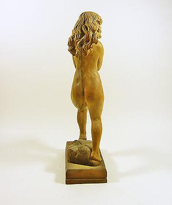"Nude Lady Dancing, Dancer Girl 12"", Vintage Woodenware Carved Figurine! 5"