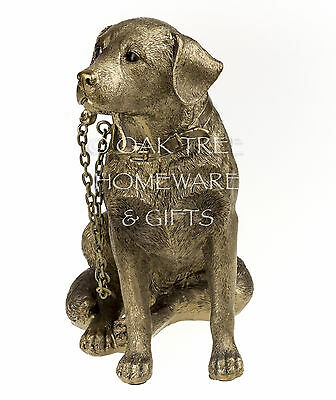 Labrador Statue Bronze Dog Ornament Dog Memorial Figurine New and Boxed 6