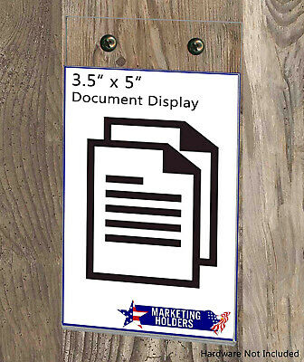 """Ad Frame Sign Holder 3.5""""W x 5""""H Vertical Wall Mount with Mounting Holes 8"""