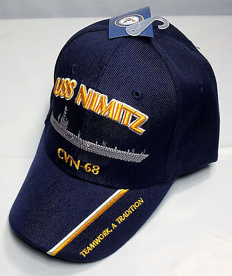 355b253722f ... USS Nimitz CVN 68 Ball Cap Embroidered US Navy Aircraft Carrier  Aviation Vet Hat 2