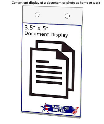 """Ad Frame Sign Holder 3.5""""W x 5""""H Vertical Wall Mount with Mounting Holes 6"""