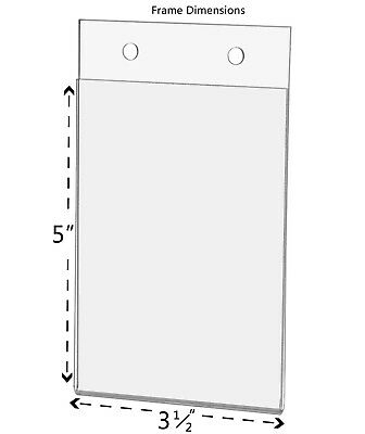 """Ad Frame Sign Holder 3.5""""W x 5""""H Vertical Wall Mount with Mounting Holes 2"""