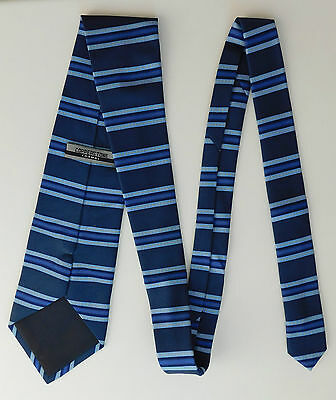 Smart Blue Striped Tie By Copperstone Formal Wear 4 00 Picclick Uk