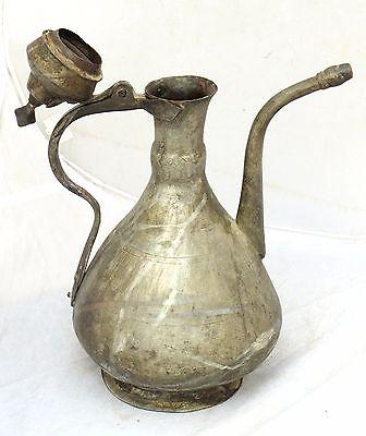 Antique Islamic Turkish Ottoman Ibrik Tall Pot Copper Arabic 19C 7