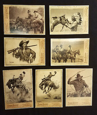 17 Bob Coronato vintage Post Cards cowboy buffalo Cody Wild Bill Hickok RODEO