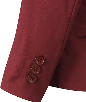 Boys 5 Piece Formal Suits Page Boy Prom Wedding Outfit in Claret Red 4