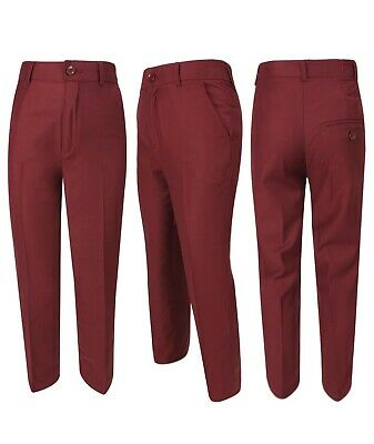 Boys 5 Piece Formal Suits Page Boy Prom Wedding Outfit in Claret Red 10