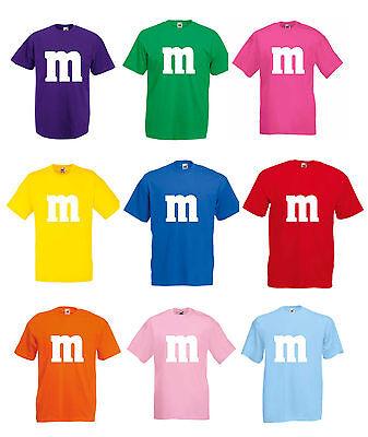 Herren Damen T-Shirt Kostüm Gruppenkostüm für M&M Fans Karneval M und M 3